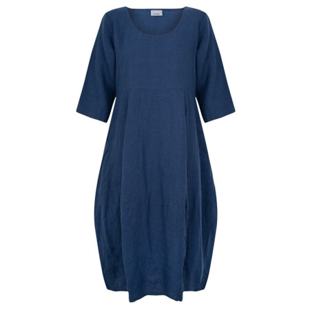 Thing Linen Balloon Dress - Blue