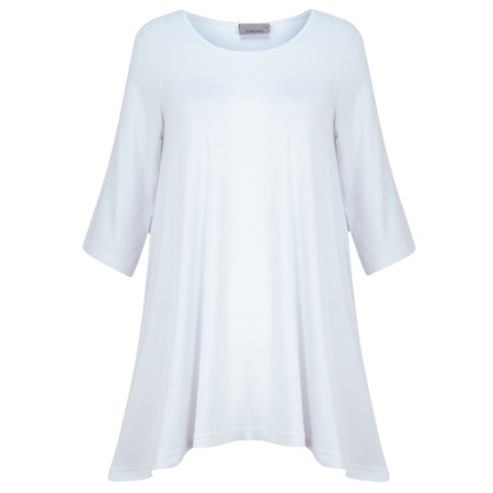 Thing A-Shape Three Quarter Length Sleeve Top - White