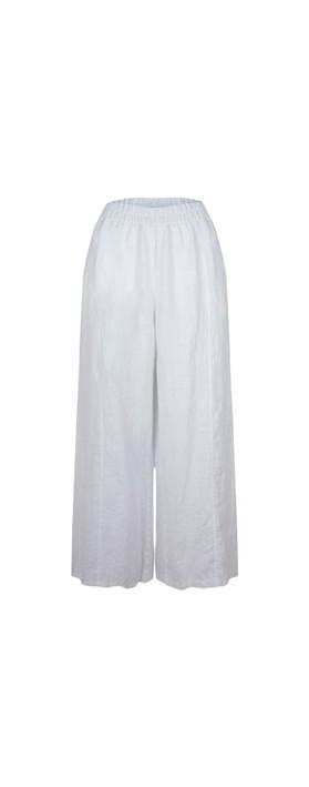 Thing Easy Parallel Linen Trouser White