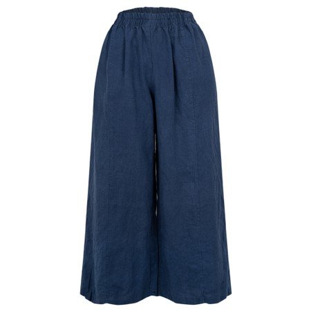 Thing Easy Parallel Linen Trouser - Blue