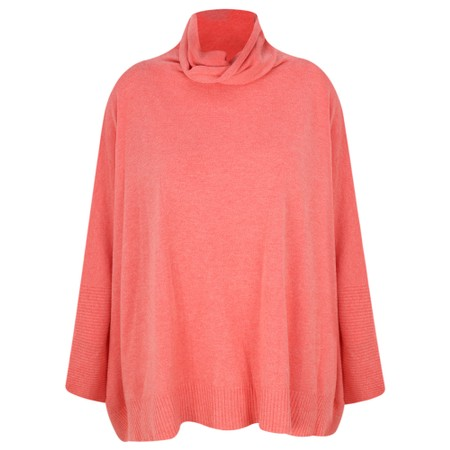 Fenella  Nina Supersoft Roll Neck Jumper  - Orange