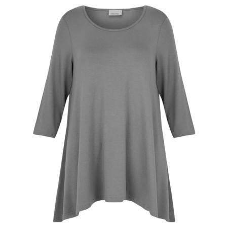 Thing A-Shape Three Quarter Length Sleeve Top - Grey