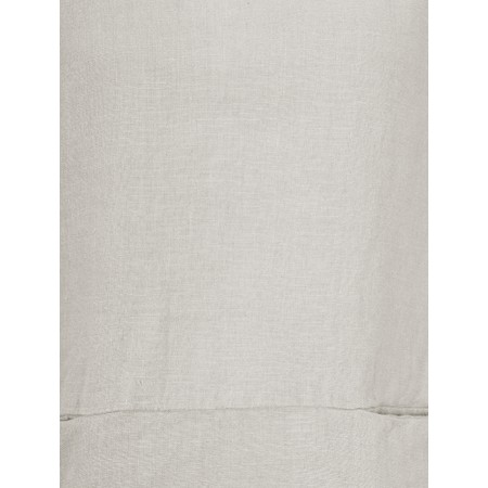 Thing Three Quarter Sleeve Two Pocket Linen Top - Beige