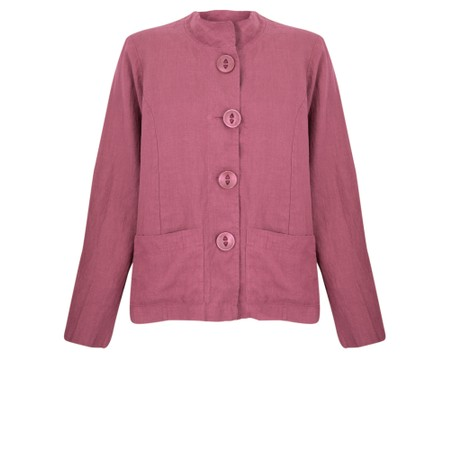 Thing Button Front 2 Pocket Jacket - Purple