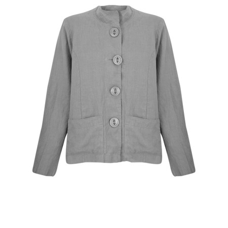 Thing Button Front 2 Pocket Jacket - Grey