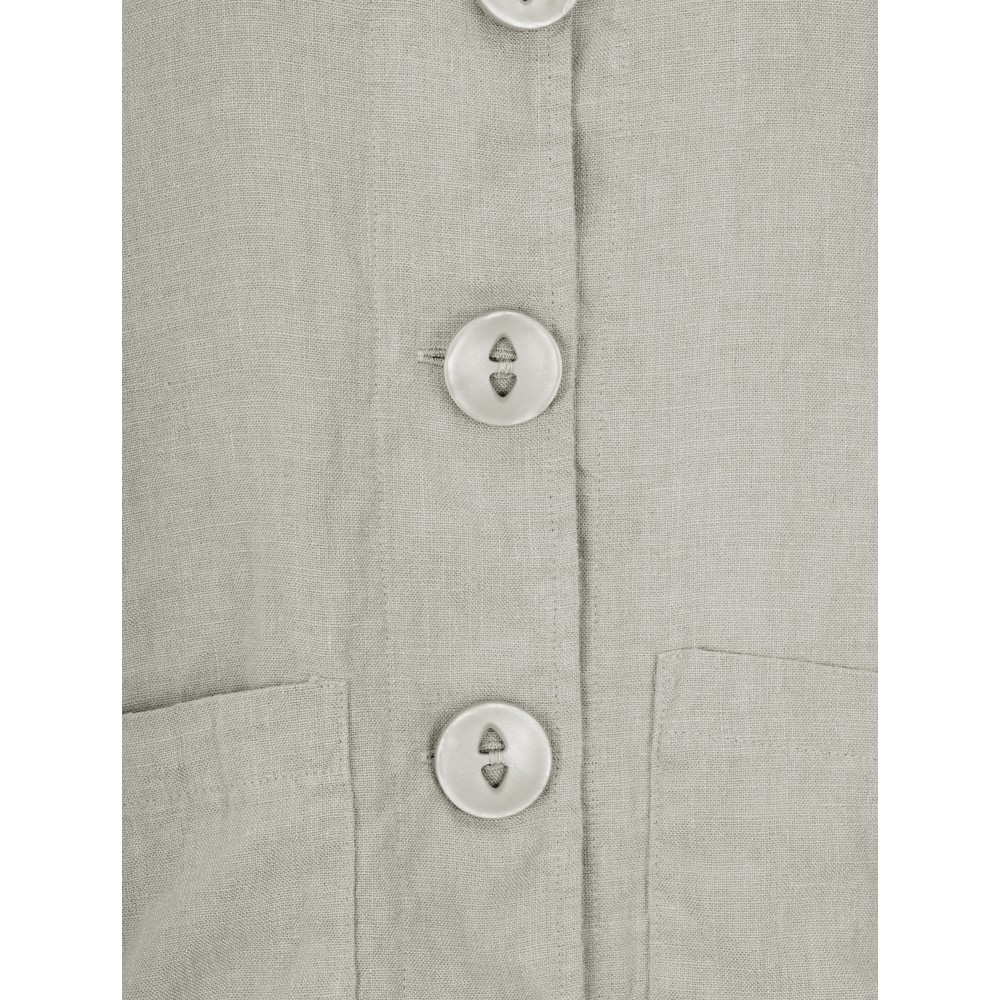 Thing Button Front 2 Pocket Jacket Linen