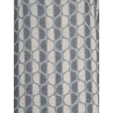 Thing Short Sleeve Linen Printed Shift Dress - Grey