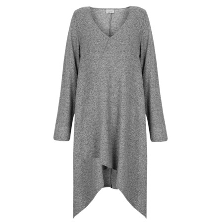 Thing Long A-symmetric Fleece Top - Metallic