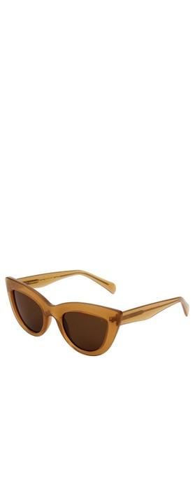 A Kjaerbede Stella Sunglasses Light Brown Transparent