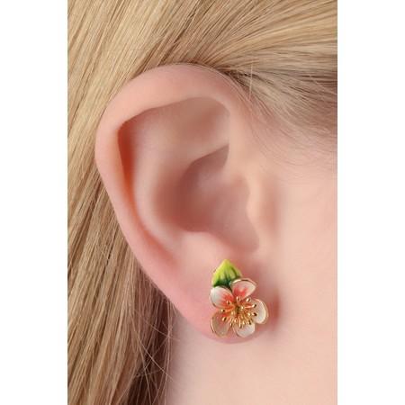 Bill Skinner Apple Blossom Stud Earrings - Multicoloured