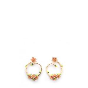 Bill Skinner Apple Blossom Hoop Earrings