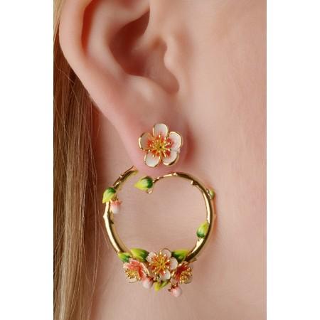 Bill Skinner Apple Blossom Hoop Earrings - Multicoloured