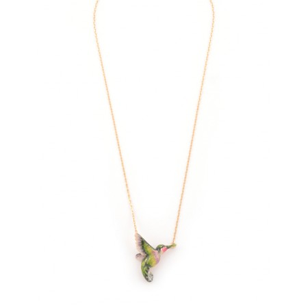 Bill Skinner Hummingbird Pendant Necklace - Multicoloured