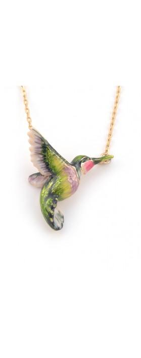 Bill Skinner Hummingbird Pendant Necklace Multi