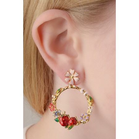 Bill Skinner Wild Strawberry Hoop Earring - Multicoloured