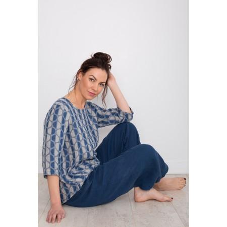 Thing Easyfit 7/8 Linen Trouser - Blue
