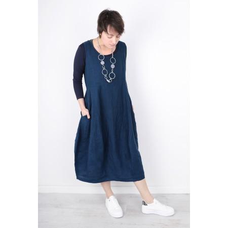 Thing Freya Linen  Sleeveless Dress - Blue