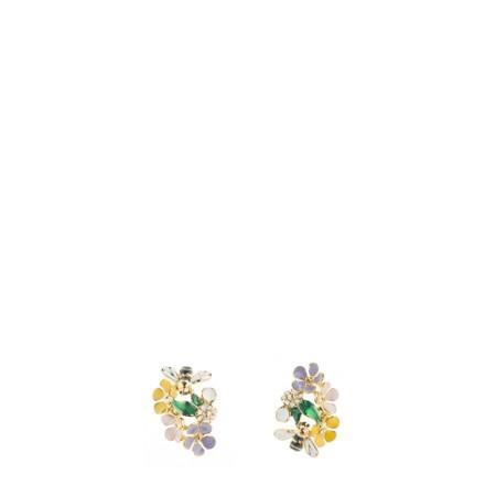 Bill Skinner Floral Climber Earring - Multicoloured