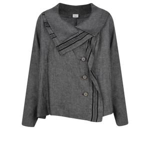 Crea Concept Stripe Detail Linen Jacket