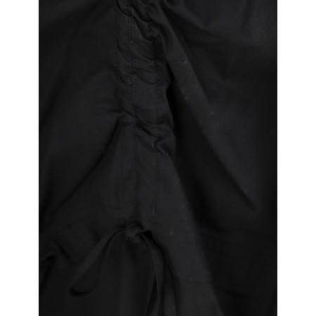 Crea Concept Balloon Drawstring Detail Dress - Black