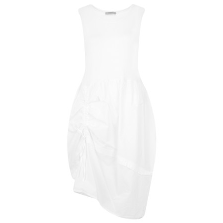 Crea Concept Balloon Drawstring Detail Dress - White
