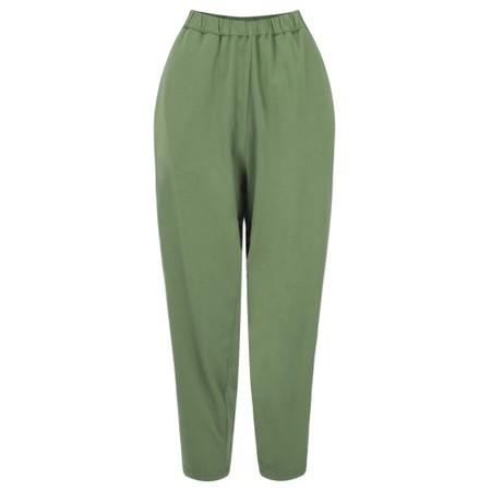 Mama B Raro Izmir Plain Trouser - Green