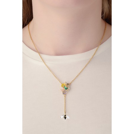 Bill Skinner Floral Y Necklace - Multicoloured