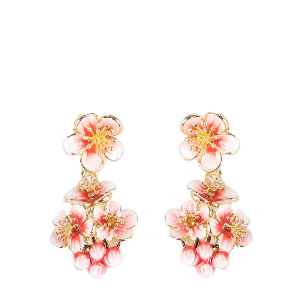 Bill Skinner Apple Blossom Cluster Earrings Multi