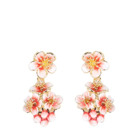 Bill Skinner Apple Blossom Cluster Earrings - Multicoloured