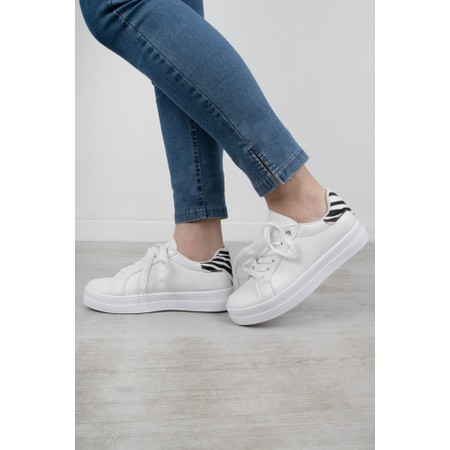 Livshu Vitsja Zebra Trim Trainer Shoe  - White