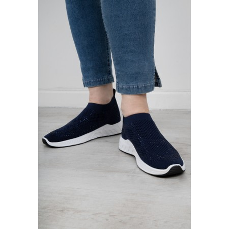 Livshu Malmo Knitted Trainer Shoe - Blue