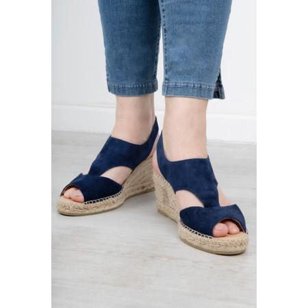 Kanna Ania Wedge Sandal - Blue