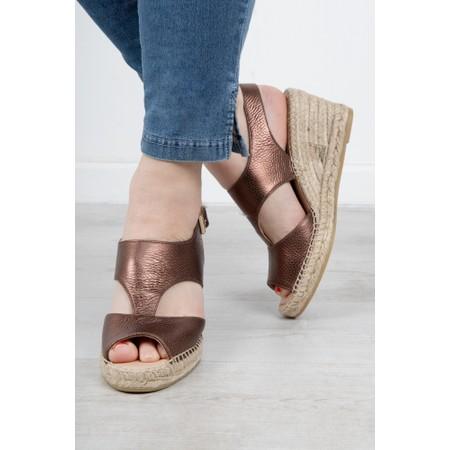Kanna Ania Wedge Sandal - Metallic