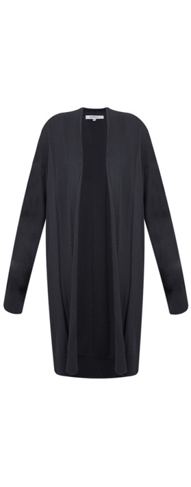 Sandwich Clothing Essential Open Front  Cardigan Navy