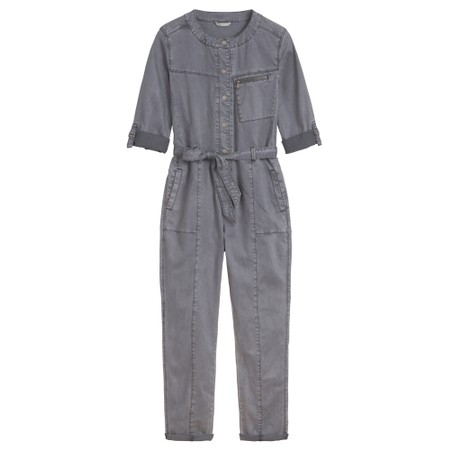 Sandwich Clothing Stretch Tencel Cotton Blend Boiler Suit - Blue