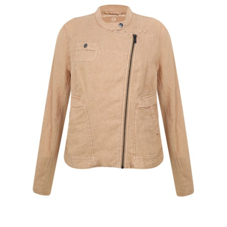 Sandwich Clothing Linen Biker Jacket - Brown