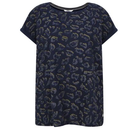 Sandwich Clothing Animal Print Slub T-Shirt - Blue