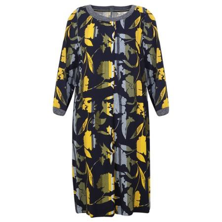Sandwich Clothing Floral Stripe Print Dress - Blue