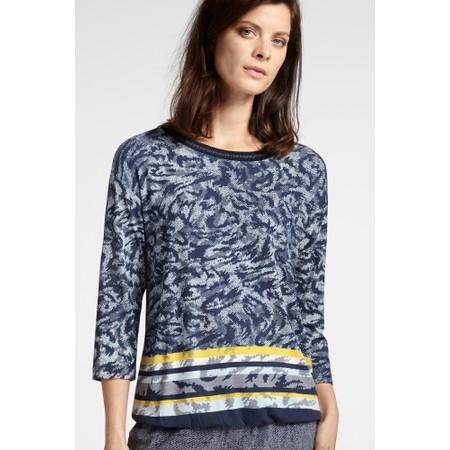 Sandwich Clothing Animal Print Jersey Top - Blue