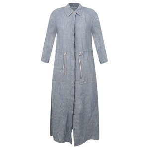 Sandwich Clothing Long Linen Shirt Dress