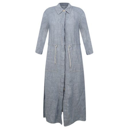 Sandwich Clothing Long Linen Shirt Dress - Grey
