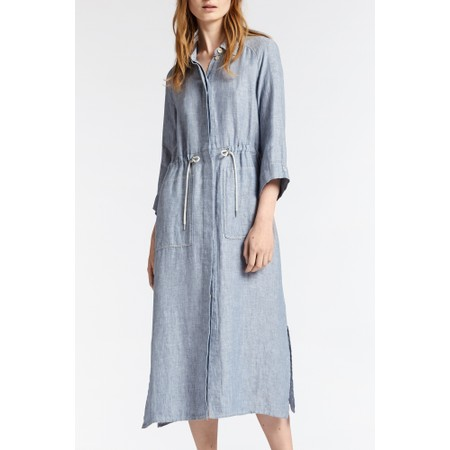 Sandwich Clothing Long Linen Shirt Dress - Grey