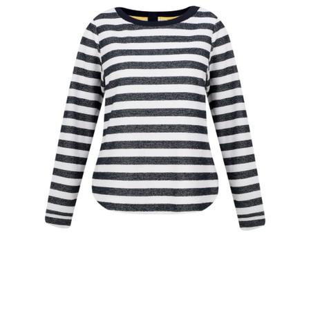 Sandwich Clothing Stripe Sweatshirt Top - White