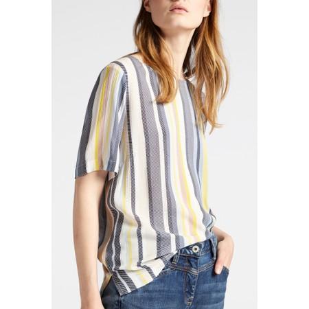 Sandwich Clothing Printed Twill Stripe Top - Yellow