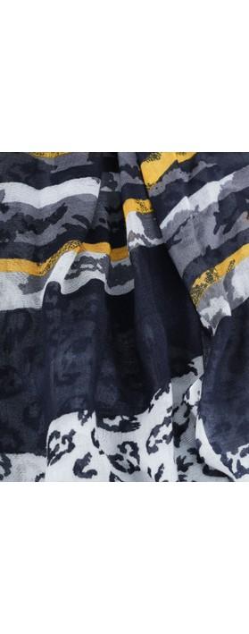 Sandwich Clothing Animal Weave Scarf Navy