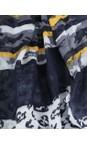 Sandwich Clothing Navy Animal Weave Scarf