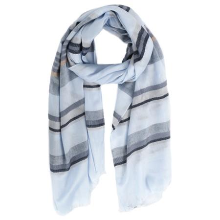 Sandwich Clothing Stripe Print Scarf - Blue