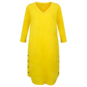 Sandwich Clothing Three Quarter Sleeve Linen Blend Dress