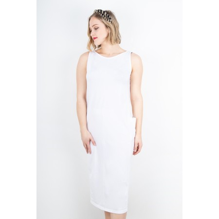 Mama B Tre Sleeveless Jersey Dress - White