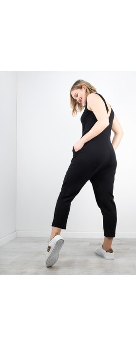 Mama B Jersey Sleeveless Jumpsuit Nero